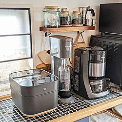 キッチン/カフェ風 DIY/ブルックリンスタイル/DIY/おうちカフェ...などのインテリア実例 - 2021-07-05 10:21:02