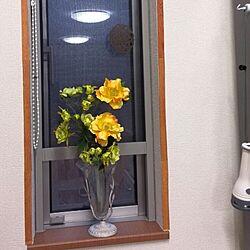 キッチン/フロアシート/セリア/造花♪のインテリア実例 - 2015-04-04 18:09:48