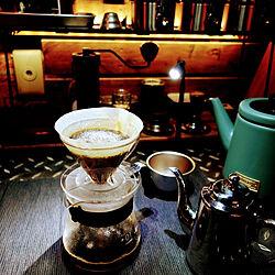 キッチン/ドリップスペース/DIY/LEDテープライト/深煎りコーヒー...などのインテリア実例 - 2021-07-21 22:48:30