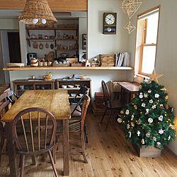 部屋全体/クリスマス/クリスマスツリー/クリスマスオーナメント/ツリーのインテリア実例 - 2020-12-01 07:33:07