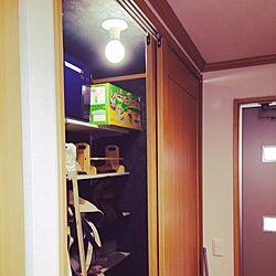 玄関/入り口/収納/玄関横 納戸/あったかハイム/新築祝のインテリア実例 - 2015-02-17 08:21:54