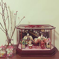 リビング/子供部屋/桃の花/ひな祭り/雛人形...などのインテリア実例 - 2017-02-13 20:30:18