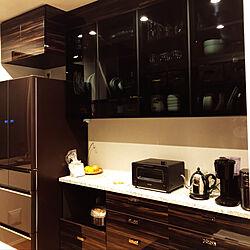 キッチン/日立の冷蔵庫/オーダー家具/バルミューダ トースター/ラッセルホブス カフェケトル...などのインテリア実例 - 2018-10-07 21:35:50