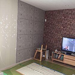 DIY/壁紙屋本舗/セルフリノベーション/コンクリート風壁紙のインテリア実例 - 2015-10-22 21:35:40
