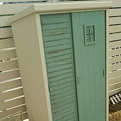 玄関/入り口/なんちゃって木製物置のインテリア実例 - 2014-08-16 00:23:46