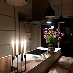 キッチン/花のある暮らし/夜のリラックスタイム/シンプル/ホワイトインテリア...などのインテリア実例 - 2018-09-29 08:54:32
