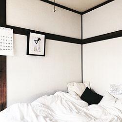 ベッド周り/シンプル/飾り/壁/ベッド...などのインテリア実例 - 2018-04-21 11:06:06
