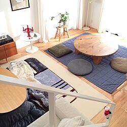 部屋全体/丸テーブル/IKEA/無印良品のインテリア実例 - 2016-12-11 16:13:15