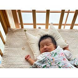 新生児/赤ちゃんのいる暮らし/3兄妹/ベビーベッド/オーガニックコットン...などのインテリア実例 - 2021-06-06 08:12:40