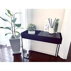 黒×グリーン/フェイクグリーン/シンプルが好き/シンプルモノトーン/IKEA フェイクグリーン...などのインテリア実例 - 2021-07-10 08:20:46