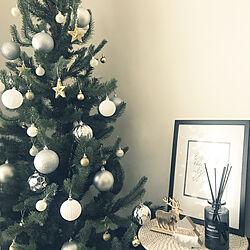クリスマスディスプレイ/クリスマスツリー/クリスマス/シンプルモノトーン/ナチュラル...などのインテリア実例 - 2019-11-20 14:14:46