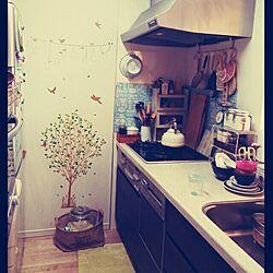 キッチン/ウォールステッカー/3コインズ/スタジオクリップ/3COINSのインテリア実例 - 2013-10-24 14:30:43
