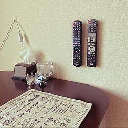 リモコン収納/1LDK 1人暮らし/一人暮らし/50代/1LDK...などのインテリア実例 - 2020-11-08 10:59:08