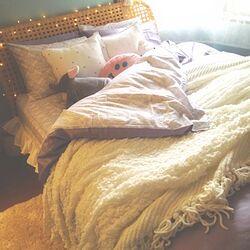 ベッド周り/ベッドシーツのインテリア実例 - 2012-11-08 14:01:25