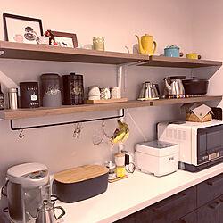 キッチン/飾り棚/造作棚/キッチン背面収納/マイホーム...などのインテリア実例 - 2018-12-08 21:22:45