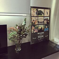 グレーインテリア/グレー好き/グレーの壁紙/グレー好き♡/ウェルカムボード 結婚式...などのインテリア実例 - 2019-11-11 20:44:15