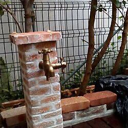 庭/花壇DIY/立水栓DIY/レンガ敷き/白目地...などのインテリア実例 - 2017-05-09 18:28:19