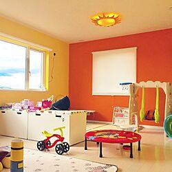 畳/トンネル/オレンジ壁紙/黄色壁紙/子供部屋...などのインテリア実例 - 2017-02-01 12:19:19