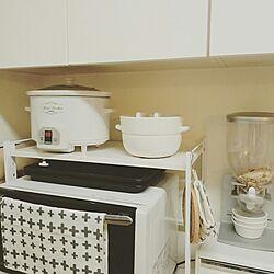キッチン/白い家具/白い部屋/白い家電/白が好き...などのインテリア実例 - 2017-03-20 21:38:19