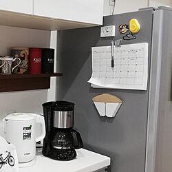 キッチン/時計/コーヒーフィルターホルダー/コーヒーフィルター入れ/コーヒーフィルター収納...などのインテリア実例 - 2019-08-18 10:37:33