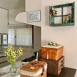 花のある暮らし/家庭菜園/ブロッコリーの花/キッチンカウンター/窓枠...などのインテリア実例 - 2020-03-24 16:04:45