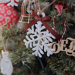 リビング/クリスマス/ハンドメイド/雪の結晶オーナメント/ツリー...などのインテリア実例 - 2019-12-12 14:38:55