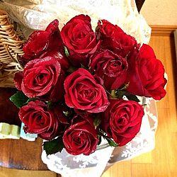 薔薇の花束/プレゼント*/旦那くんからのプレゼント*のインテリア実例 - 2013-11-30 21:28:23