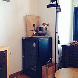 リビング/カメラ用防湿保管庫/ドライフラワー/ショップバッグのティッシュケースのインテリア実例 - 2014-08-13 08:30:38