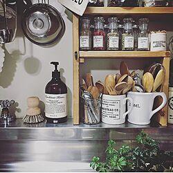 キッチン/グリーンのある暮らし/マーチソンヒューム/DIY/スパイスラック...などのインテリア実例 - 2017-06-22 13:06:16