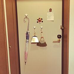 玄関/入り口/ナチュラルキッチン/一人暮らし/100均/雑貨のインテリア実例 - 2018-04-01 21:52:00