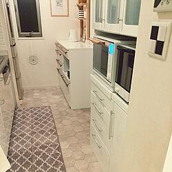 キッチン/白/ほとんど原状回復しました。/シンプル/賃貸アパート...などのインテリア実例 - 2017-12-06 18:19:06
