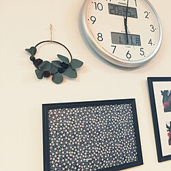 壁/天井/北欧インテリア/写真フレーム/インテリア雑貨/時計...などのインテリア実例 - 2021-01-11 18:27:37