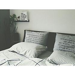 ベッド周り/白黒/モノトーン/がんばっぺ福島!/検索用...などのインテリア実例 - 2014-06-30 20:10:58