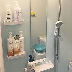 バス/トイレ/シャワー/浴室用ラック/モノ集め/浴室用化粧鏡...などのインテリア実例 - 2018-02-27 18:22:47