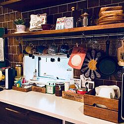 キッチン/マグカップ 収納/troisちゃんの作品/IKEA/アカシア食器...などのインテリア実例 - 2018-06-08 08:32:47