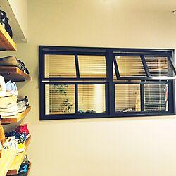 玄関/入り口/アルミブラインド/室内窓/塗装壁/BRIWAX...などのインテリア実例 - 2016-12-10 22:17:37