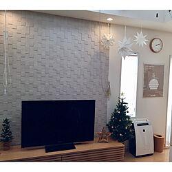 リビング/クリスマスツリー/クリスマス/TVボード/エコカラット...などのインテリア実例 - 2017-11-12 20:05:29