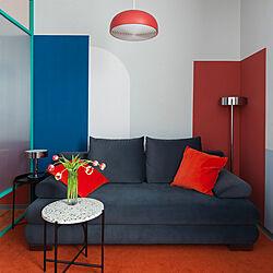 colorblock/colorful/sofa/IKEA/部屋全体のインテリア実例 - 2021-03-19 01:45:56