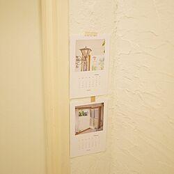 バス/トイレ/白/ペイント/珪藻土の壁/カレンダー...などのインテリア実例 - 2014-01-06 20:14:39