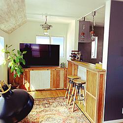 部屋全体/観葉植物/ハンドメイド/ランプ/DIY...などのインテリア実例 - 2020-03-25 10:49:54