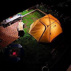 お庭改造中/テント/ジカロテーブル/スノーピーク/ノースフェイス...などのインテリア実例 - 2021-06-05 23:01:42