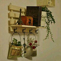 壁/天井/セリア/DIY/illusie300/akarikoちゃんのリメ缶♡...などのインテリア実例 - 2014-03-01 02:12:04