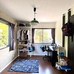 IKEAの机/IKEA/中学生男子の部屋/かっこいい部屋/コンクリート風壁紙...などのインテリア実例 - 2020-05-02 17:12:00