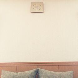 リビング/ACTUSソファー/humpty dumpty/時計以外、何もない壁。/シンプル!...などのインテリア実例 - 2015-06-01 16:43:39