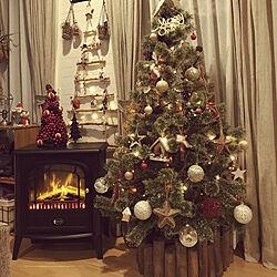 リビング/ディンプレックスの暖炉/jarnal standard/クリスマス雑貨/建て売りだけど…可愛くしたい(^^;...などのインテリア実例 - 2017-11-30 21:41:29