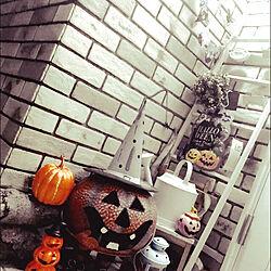 玄関/入り口/ハロウィン/コストコ/ハンドメイド/DIY...などのインテリア実例 - 2017-10-11 21:36:23
