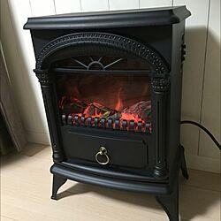 リビング/ニトリ暖炉型ヒーター/ニトリ/腰壁のインテリア実例 - 2015-12-19 18:57:37