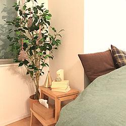 ベッド周り/フェイクグリーン/クリスマス/ニトリ/IKEA...などのインテリア実例 - 2018-11-30 14:40:29