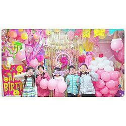 ピンク/キラキラ/お誕生会/手作りパーティー/飾り...などのインテリア実例 - 2017-03-17 23:16:34