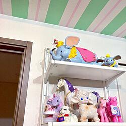 棚/Disney love/アルゴート/IKEAの棚/棚DIY...などのインテリア実例 - 2019-01-18 00:28:14